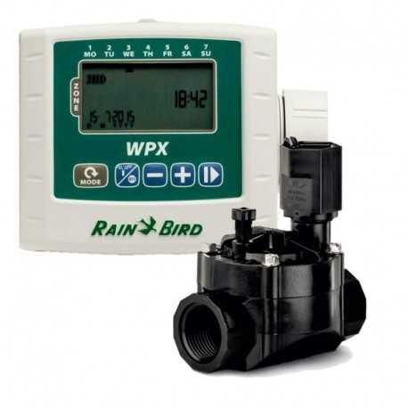 """Programador a batería WPX1 Kit + Electroválvula 9v 1"""" Rain Bird"""