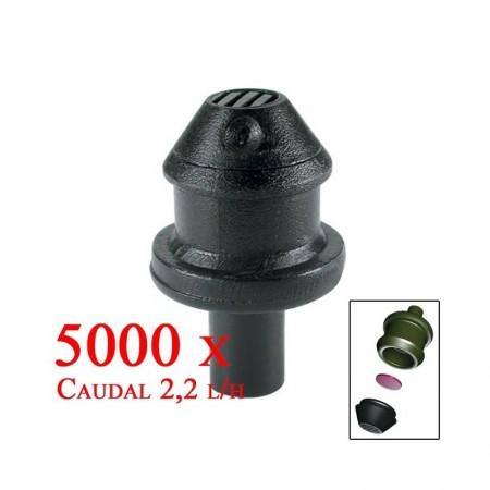 Gotero Autocompensante Goce 2,2 l/h con emisor. 5000 unidades