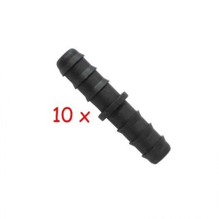 Enlace 16mm goteo negro. Pack de 10