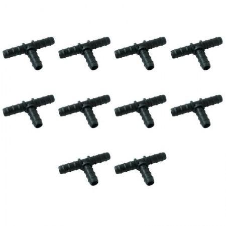 Te 16mm goteo negro (Pack x 10)