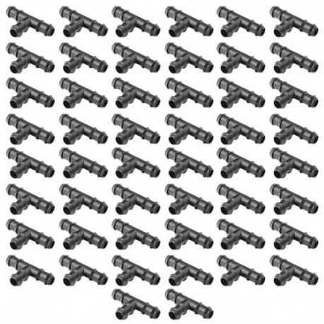 Te 16mm goteo negro (Pack x 50)