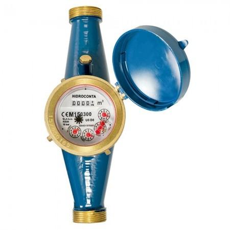 Contador de agua 25mm de chorro único esfera seca/Certificado MID Europeo que permite el uso con agua potable