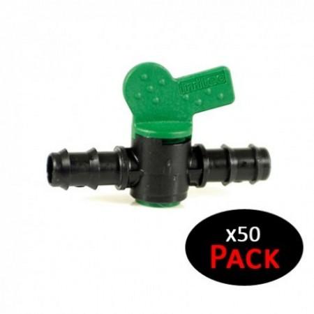 Llave de paso para riego por goteo 20mm (Pack de 50 uds)