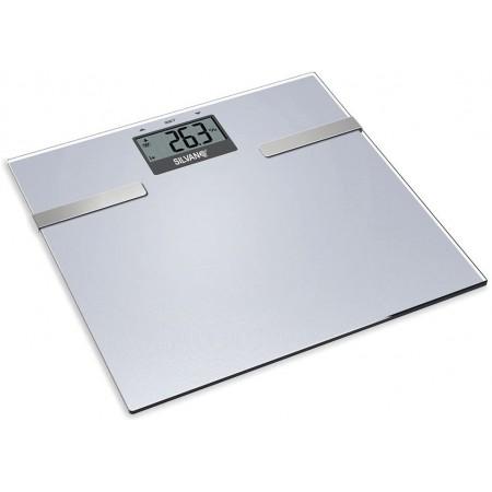 Weegschaal met vet- en hydratatiemeting en BMI-calculator