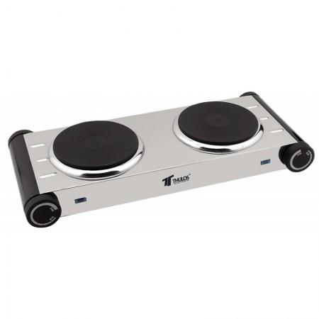 2 pits RVS elektrische kookplaat