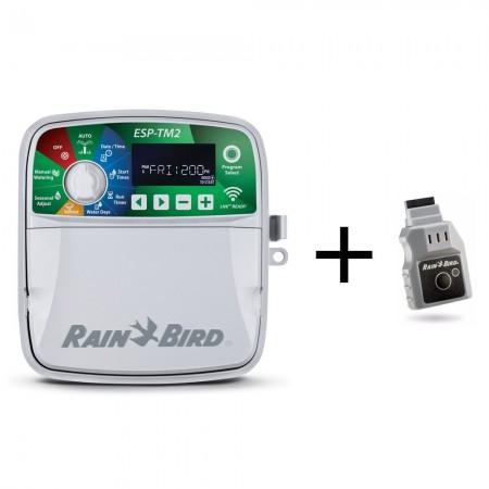 Programador Rain Bird ESP-TM2 4 estaciones exterior + Módulo LNK Wifi