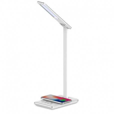 Lámpara LED con cargador inalámbrico MB-LL105 color blanco