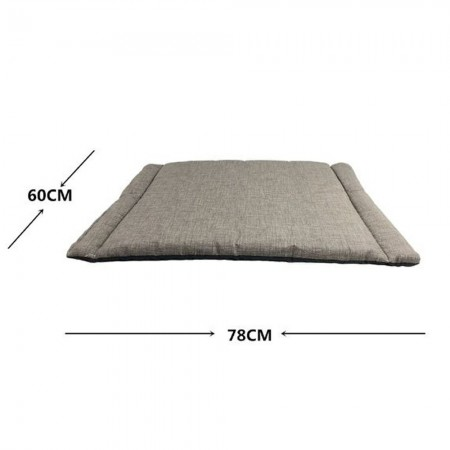 Colchoneta fina para mascotas gris y negro 60 x 78 x 2 cms