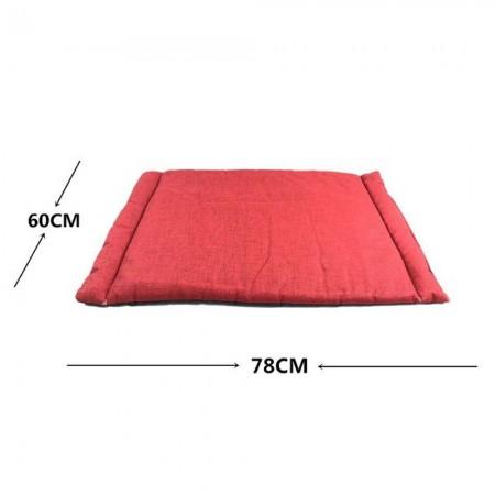 Colchoneta fina para mascotas gris y rojo 60 x 78 x 2 cms