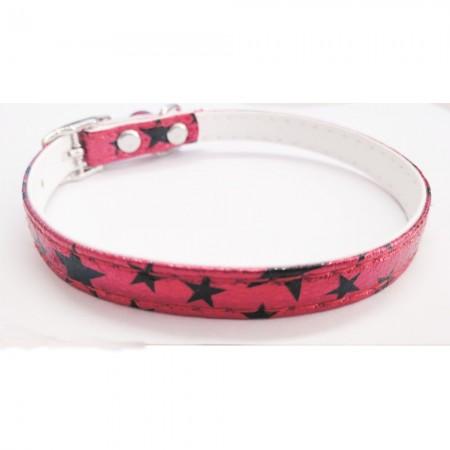 Collar para gato con estrellas color rojo con cascabel