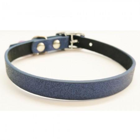 Coleira de gato azul com sino