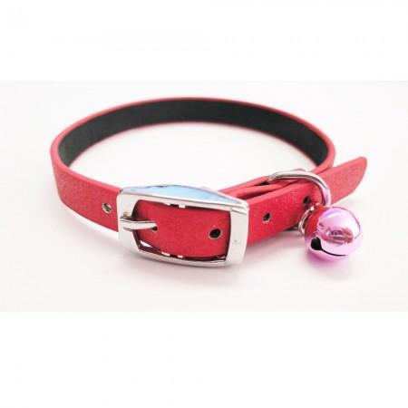 Collar para gato color rojo con cascabel