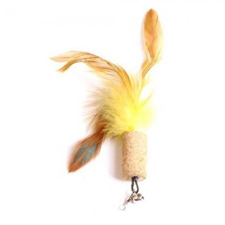 Juguete con plumas para gato 4 cm. Colores se sirven según disponibilidad
