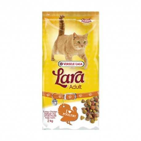 Pienso para gatos Lara con pavo 2 kgs