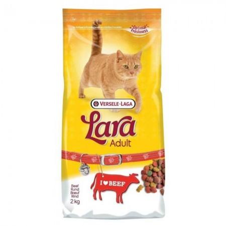 Pienso para gatos Lara con buey 2 kgs