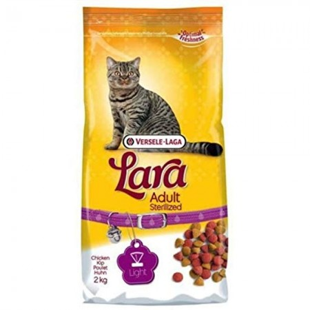 Pienso para gatos esterilizadors Lara con pato y pollo 2 kg
