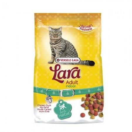 Pienso anti bolas de pelo para gatos Lara con pato y pollo 350 grs
