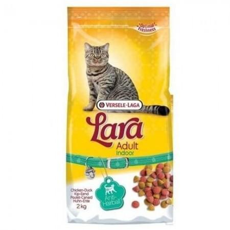 Pienso anti bolas de pelo para gatos Lara con pato y pollo 2 kg
