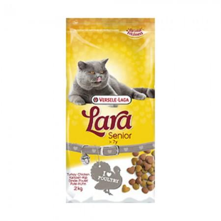 Pienso para gatos mayores Lara con pavo y pollo 2 kg
