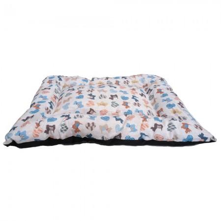 Colchón de loneta Triana con estampado Doggy 65 x 55 x 4 cms