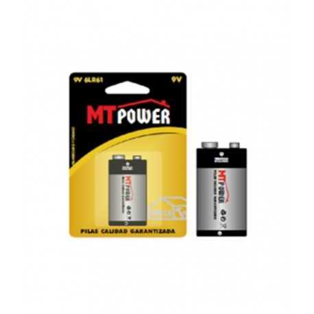 Pila alcalina mt power 9v bl 1 ud