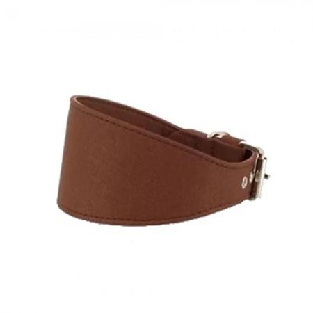 Collar color marrón forrado para galgo
