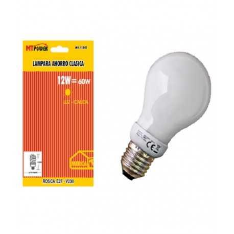 Lampara ahorro energia clasica 12we27