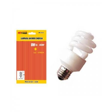 Lampara ahorro energia semiespiral 8we27