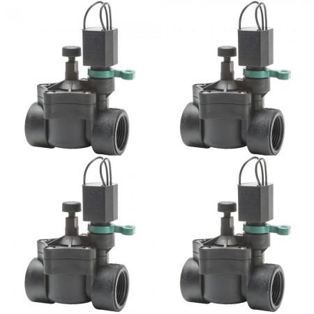 "Electroválvula Rain RN 150 24V 1"" con regulador de caudal (Pack x 4)"