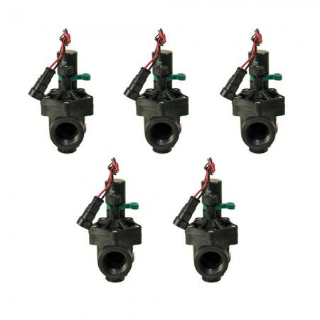 "Electroválvula Rain RN 150 9V 1"" con regulador de caudal (Pack x 5)"