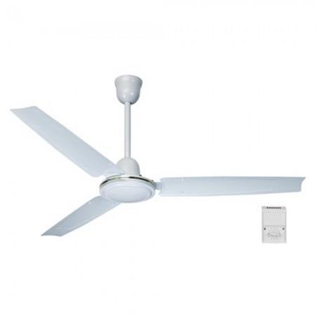 Ventilatore da soffitto bianco da 90 cm con telecomando da 60 W