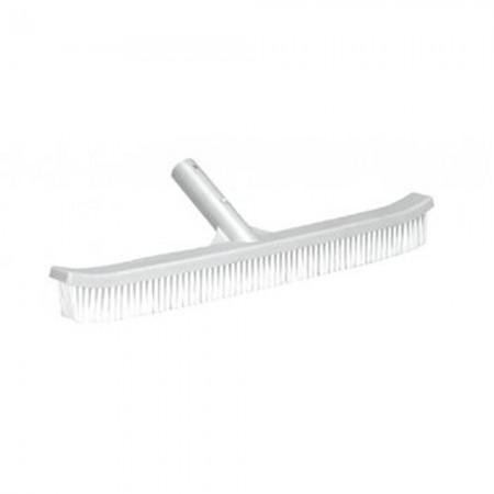 Cepillo curvo de plástico para limpieza de piscinas 45cms