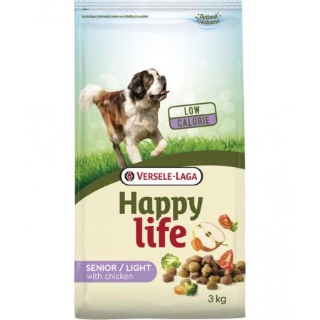 Alimento para Perros Happy Life Senior Light con pollo 3 kgs