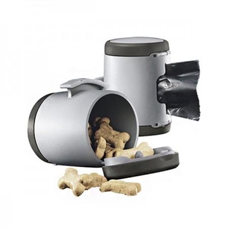 Flexi Multi Box Negro - Dispensador de bolsas y golosinas para perros
