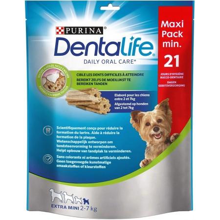 Purina Dentalife golosina dental para Perro Extra MINI, 5 paquetes de 21 sticks, 5x207 gramos