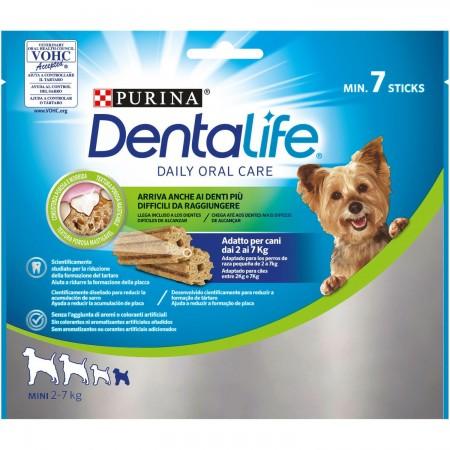 Purina Dentalife golosina dental para Perro Extra MINI, 5 paquetes de 7 sticks, 5x69g