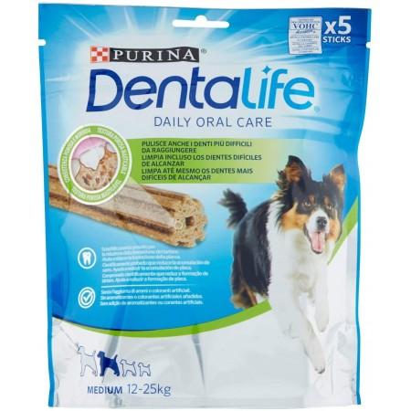 Purina Dentalife golosina dental para Perro Mediano, 5 paquetes de 5 sticks, 5x115g