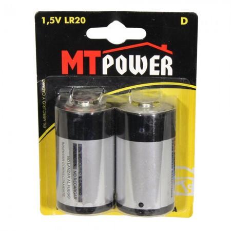 Alimentazione a batteria alcalina D (Blister 2)