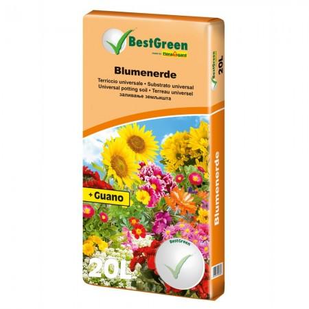 Substraat voor balkonplanten en geraniums BestGreen 25 liter