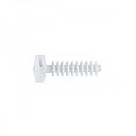 Taco soporte brida nylon blanco - 8 mm - 100 pzas