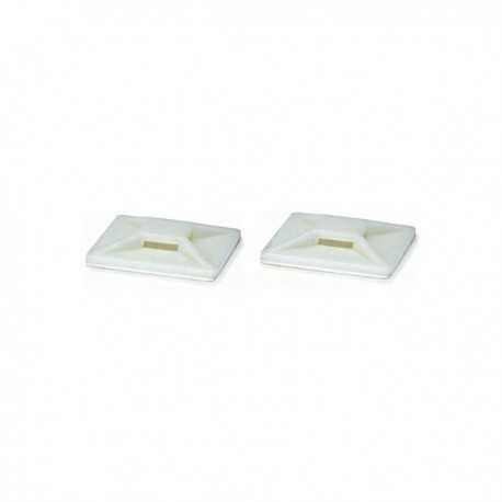 Base adhesiva de 20x20 en bolsa de 100 unidades