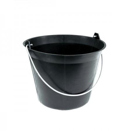Zwarte plastic emmer 11 lts