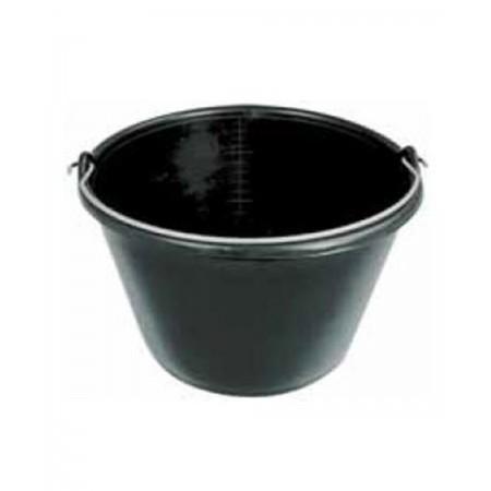Zwarte plastic emmer van 16 liter