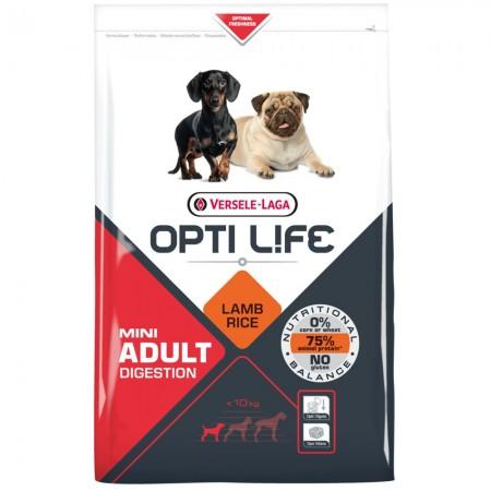 Alimento para Perros OPTI Life Adult Digestion Mini con cordero y arroz 2,5 kgs