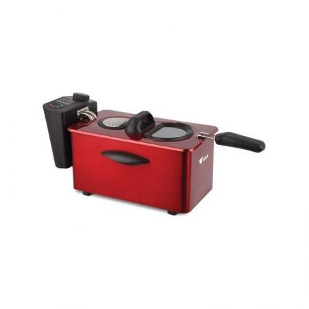 Freidora eléctrica 3.50 litros Thulos rojo