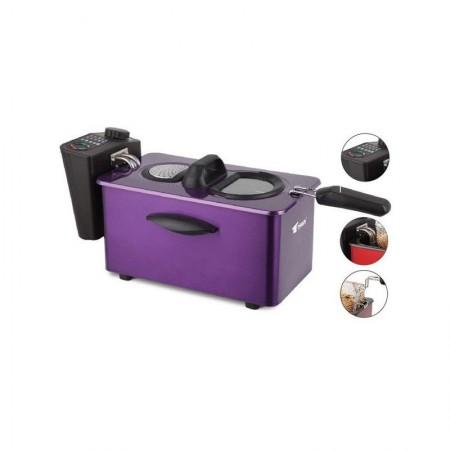 Friggitrice elettrica 3,50 litri Thulos viola