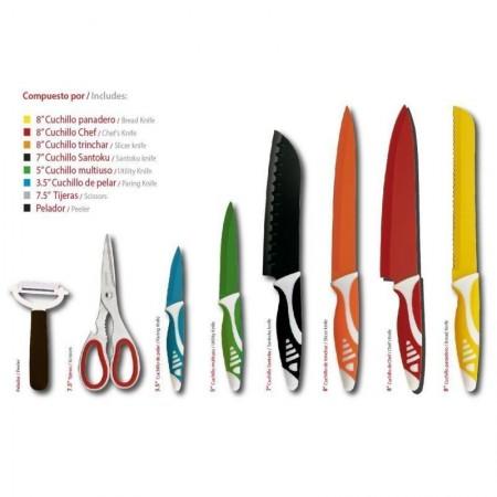 Set di 8 coltelli corona reale in acciaio inossidabile