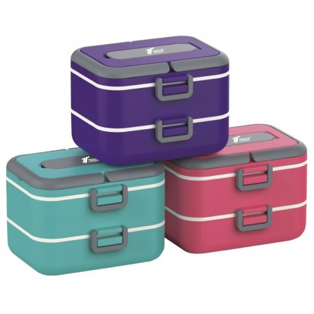 Dubbele lunchbox 1,50L Thulos TH-LB1500 Paars