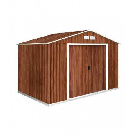 capannone in metallo 2,6x1,82 mt. colore del legno