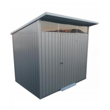capannone in metallo duramax avatar 0,45 mm spessore 182 cm x 249 cm grigio argento